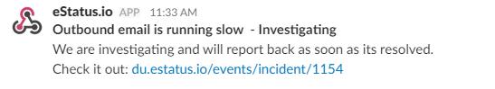 Status Page Slack Notification